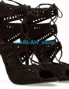 ZARA szpilki sandały sznurowane gladiatorki ażur