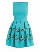 Closet turkusowa sukienka z wstawkami z koronki...
