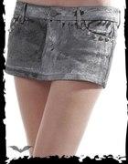 spódniczka Queen of darkness jeans punk ćwieki...