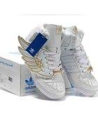Jeremy Scott wings white gold snekaers...