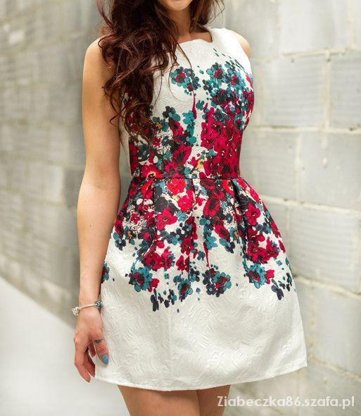 Nowa zdobycz Sukienka żakardowa floral