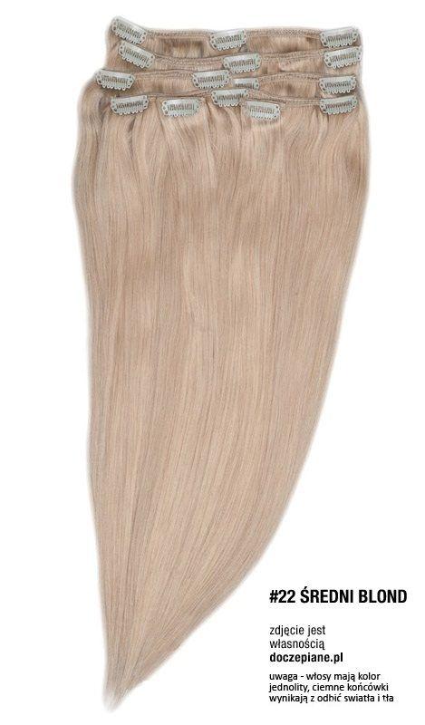 Pozostałe wlosy clip in doczepiane pl sredni blond