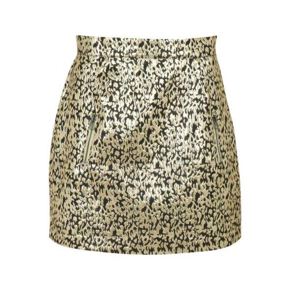 Spódnice Czarno złota spódnica bombka L