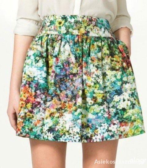 Spódnice zara floral spódniczka XS
