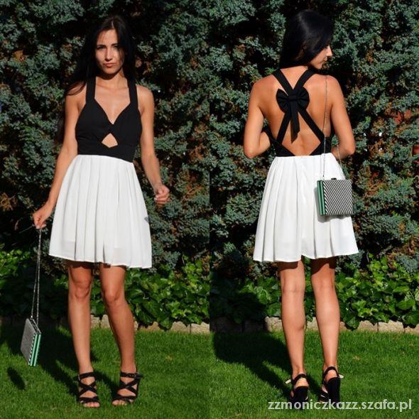Blogerek black&white dress