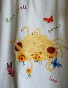Ręcznie malowana Latający Potwór Spaghetti FSM...