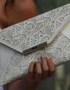 Biała kopertówka b5
