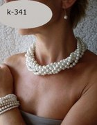 biżuteria ślubna i wizytowa białe perły