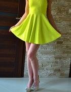 Sukienka neon lime