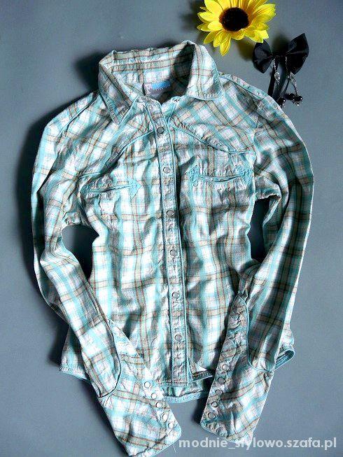 Koszule FUNKY GIRL koszula w kratkę 36
