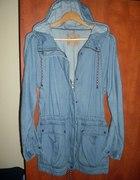 Jeans katanka kurteczka płaszczyk Pull&Bear...