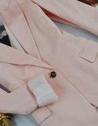 ATTENTIF marynarka żakiet roz S pudrowa