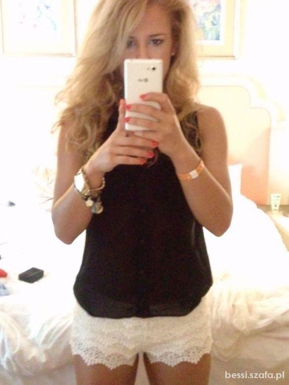 Mój styl koronkowe shorty