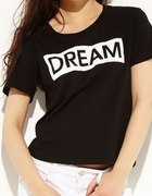 Reserved Tshirt czarny DREAM...