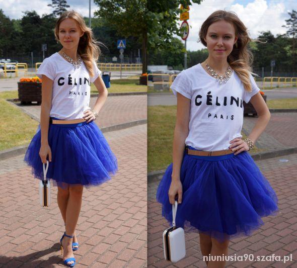 Mój styl White top & Tulle skirt