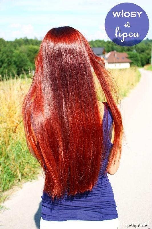 proste rude włosy...