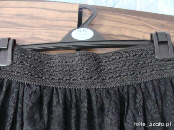 Spódnice Czarna koronkowa maxi spódnica S M