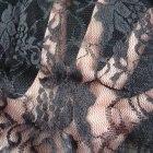 Czarna koronkowa maxi spódnica S M