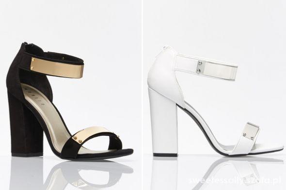 Mohito białe metalowe sandały 2014
