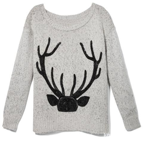 Sweter reserved z jeleniem...