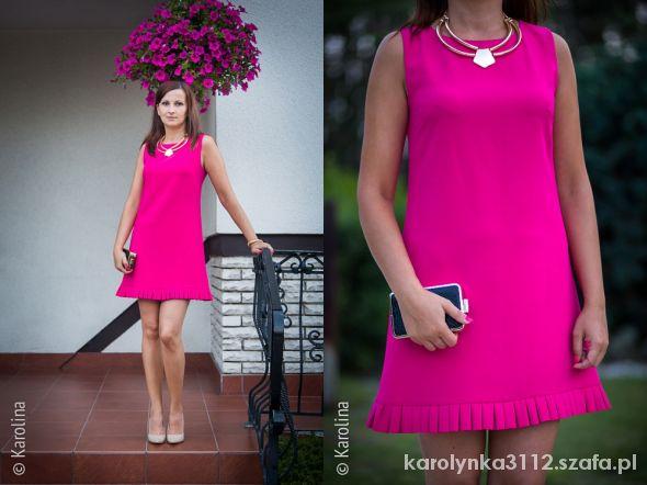 Blogerek Fuksjowa sukienka