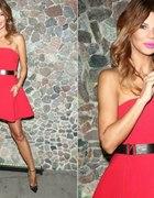 Sukienka ognista czerwien
