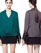 Szmaragdowa bluzka Zara