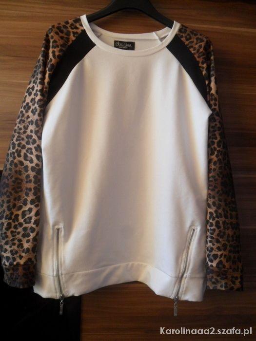 Ubrania Bluza Cropp rękawy panterki