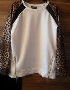 Bluza Cropp rękawy panterki...