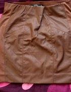 Skórzana spódnica Reserved karmelowa