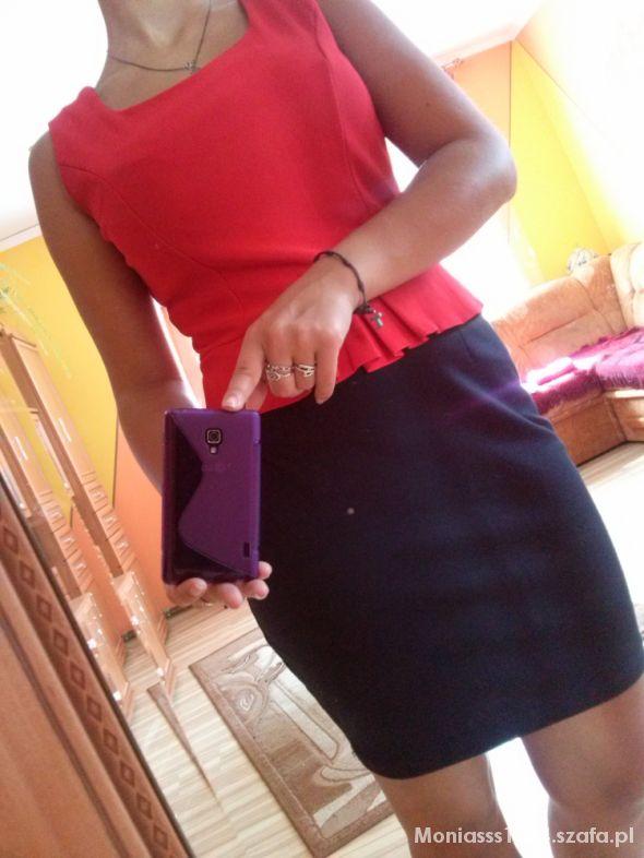 Sukienka czarno czerwona M L