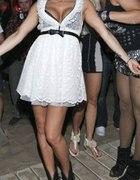 Biała koronkowa sukienka dody Zara MTV S 36