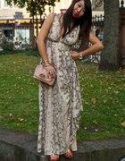 h&m snake maxi dress