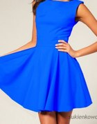 rozkloszowna niebieska sukienka