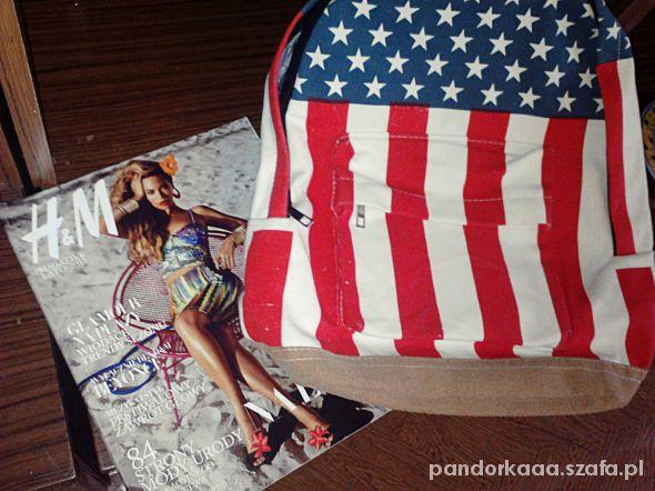 Plecak z flagą USA