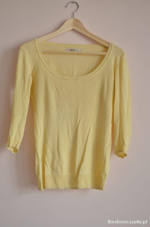 Cytrynowy sweterek House rozmiar S