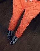 neon dres M L 38 40 baggy boyfriendy orange