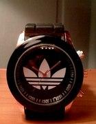 Nowy czarny Zegarek jelly Adidas black and gold