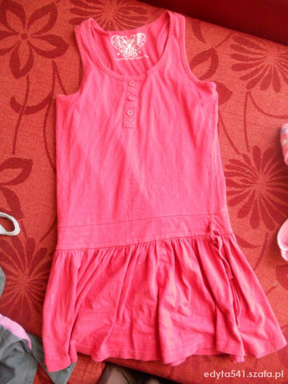 Zabawki różowa sukienka rozm 146 152