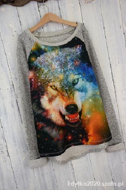 Sweterek Zarra Gembos z Wilkiem WOLF rozm M