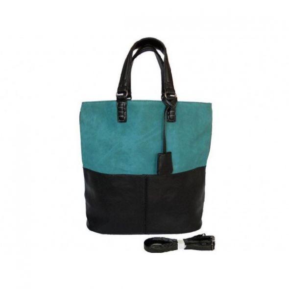 shopper bag turkusowa