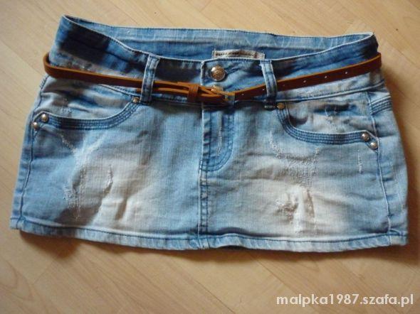 Spódnice Spódniczka dżins przetarcia M