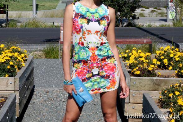 e478b384bb Sukienka neon bodycon kwiaty floral HM XS S w Suknie i sukienki ...