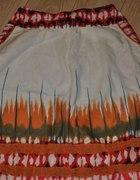 kolorowa spódnica bawełna długa 16 XL