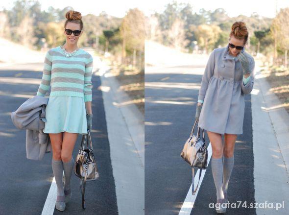 Ubrania sweterek w paseczki