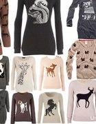 sweterki z motywem zwierząt