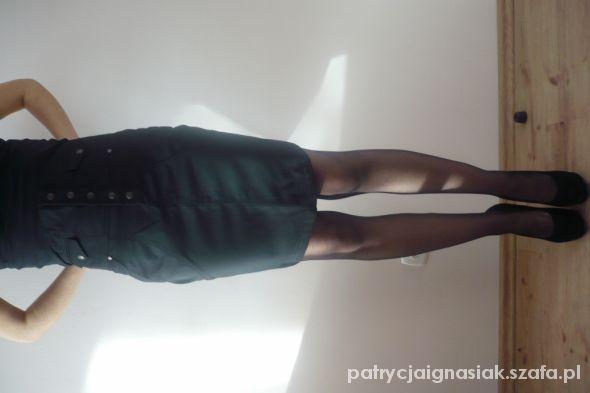 Spódnice Elegancka czarna spódniczka z wysokim stanem