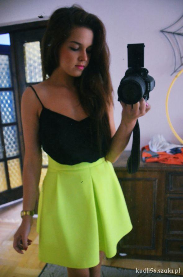 Blogerek neon dress