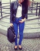 Spodnie jeansy rurki wysoki stan 38 M