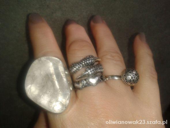 Pierścionki olbrzymi krysztal lodowy